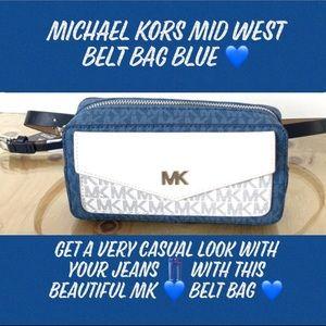 MICHAEL KORS EAST WEST BELT BAG BLUE MULTI 💙